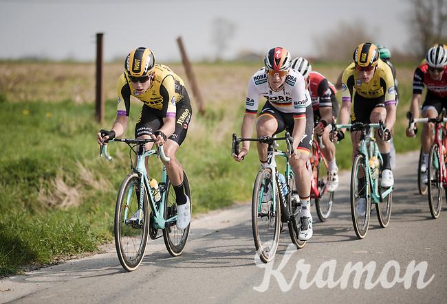 Wout Van Aert (BEL/Jumbo-Visma) up front<br /> <br /> 81st Gent-Wevelgem 'in Flanders Fields' 2019<br /> One day race (1.UWT) from Deinze to Wevelgem (BEL/251km)<br /> <br /> ©kramon