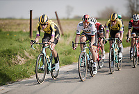 Wout Van Aert (BEL/Jumbo-Visma) up front<br /> <br /> 81st Gent-Wevelgem 'in Flanders Fields' 2019<br /> One day race (1.UWT) from Deinze to Wevelgem (BEL/251km)<br /> <br /> ©kramon