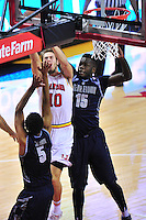 Terrapins Jake Layman is fouled while going to the basket. Maryland defeated Georgetown 75-71 during a game at Xfinity Center in College Park, MD on Wednesday, November 17, 2015.  Alan P. Santos/DC Sports Box