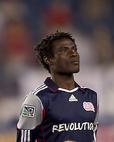 New England Revolution defender Emmanuel Osei (5). The New England Revolution defeated Houston Dynamo, 1-0, at Gillette Stadium on August 14, 2010.