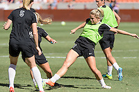 Houston, TX - Sunday Oct. 09, 2016: Abigail Dahlkemper prior to the National Women's Soccer League (NWSL) Championship match between the Washington Spirit and the Western New York Flash at BBVA Compass Stadium. The Western New York Flash win 3-2 on penalty kicks after playing to a 2-2 tie.