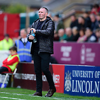 Lincoln City manager Michael Appleton shouts instructions to his team from the technical area<br /> <br /> Photographer Andrew Vaughan/CameraSport<br /> <br /> The EFL Sky Bet League One - Lincoln City v Sunderland - Saturday 5th October 2019 - Sincil Bank - Lincoln<br /> <br /> World Copyright © 2019 CameraSport. All rights reserved. 43 Linden Ave. Countesthorpe. Leicester. England. LE8 5PG - Tel: +44 (0) 116 277 4147 - admin@camerasport.com - www.camerasport.com