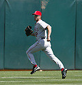 Steve Finley in action during the Los Angeles Angels v. Oakland Athletics game April 16, 2005.....Los Angeles Angels lost 0-1.....Rob Holt/ SportPics