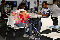SÃO PAULO, 25 DE JULHO, 2012 - FEIRAO LIMPA NOME - Instituições de crédito oferecem descontos e renegociação das pendências financeiras e oportunidade para mais de 2,5 milhões de consumidores com dívidas atrasadas negociem seus débitos. O evento acontece entre 25 e 28 de julho, na Expo Barra Funda, zona oeste da capital paulista . Quarta-feira, 25 de julho - FOTO LOLA OLIVEIRA/BRAZIL PHOTO PRESS