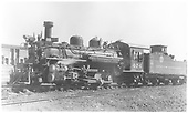 Left front view of K-28 #474 in Gunnison.<br /> D&amp;RGW  Gunnison, CO  6/5/1940