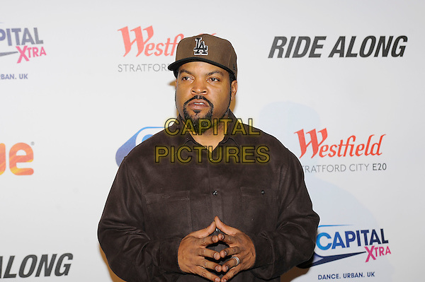 LONDON, ENGLAND - February 27: Ice Cube(O'Shea Jackson) attends the UK Premiere of 'Ride Along' at Vue Cinema, Westfield Stratford City on February 27, 2014 in London, England<br /> CAP/MAR<br /> &copy; Martin Harris/Capital Pictures