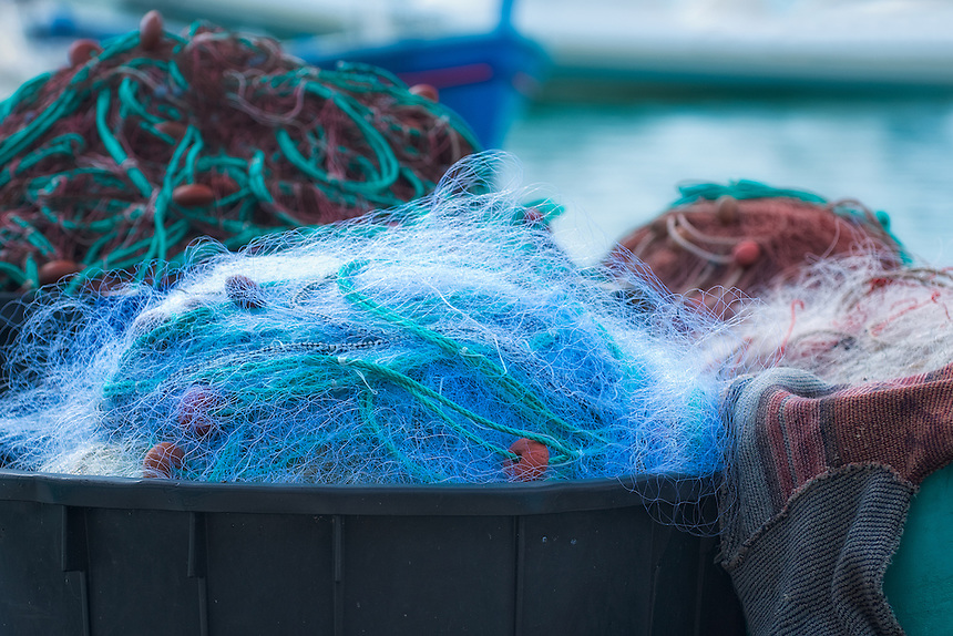 Europe, France, Cassis, Mediterranean Sea, fishing nets, nets,