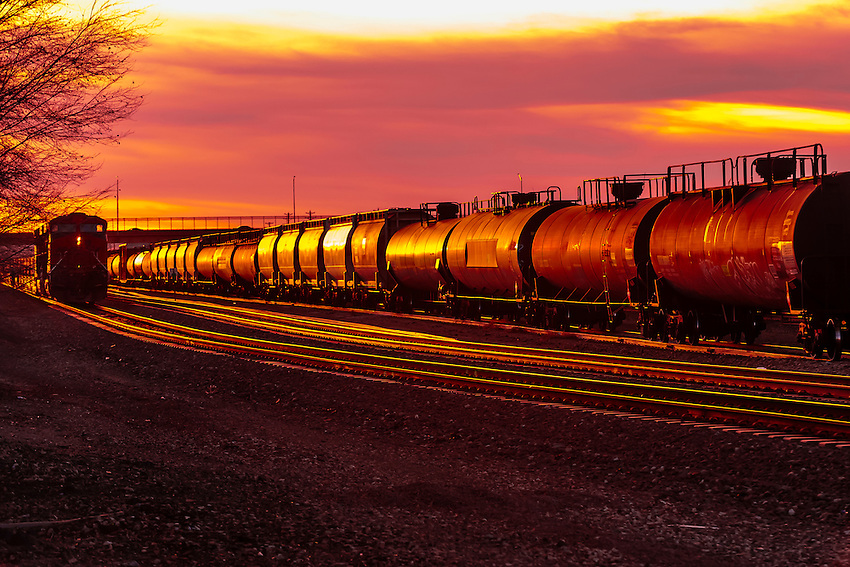 Freight trains, Gallup, New Mexico USA.