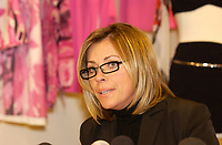 Dec 12,  2002 Montreal, Quebec, Canada; <br /> <br /> Founder and former of SHAN bathing suit company, Chantal Levesque  defend her actions as President of MODE-QUEBEC ( a Division of the Caisse de Depot et Placements du Quebec), during a press conference<br /> Dec 12, 2002 in Montreal, CANADA<br /> <br /> (Mandatory Credit: Photo by Sevy - Images Distribution (©) Copyright 2003 by Sevy<br /> <br /> NOTE :  D-1 H original JPEG, saved as Adobe 1998 RGB.<br />  Uncompressed and uncropped original  size file available on request.