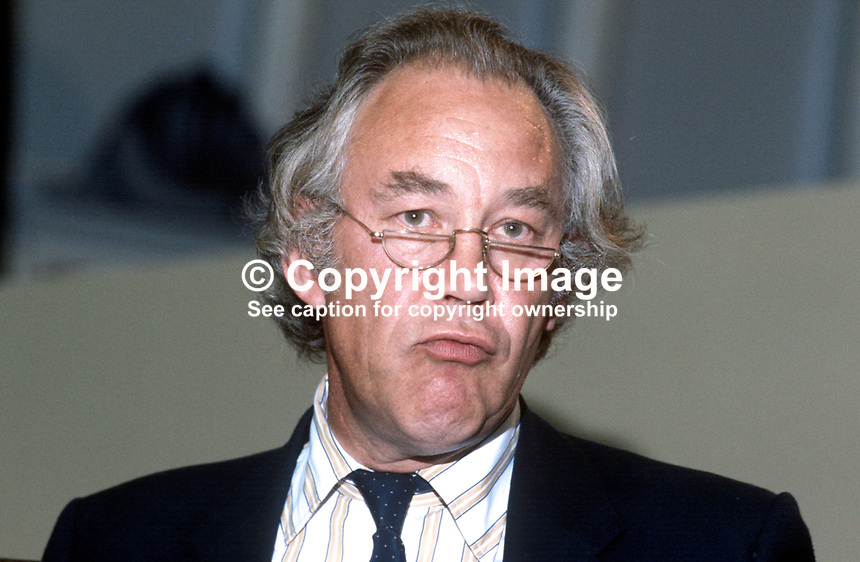 Christopher Brocklebank-Fowler,  former Conservative Party MP, now prominent member,  SDP, Social Democratic Party, UK, 19840109CBF1.<br />
