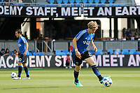 San Jose, CA - Saturday March 31, 2018: Florian Jungwirth prior to a Major League Soccer (MLS) match between the San Jose Earthquakes and New York City FC at Avaya Stadium.