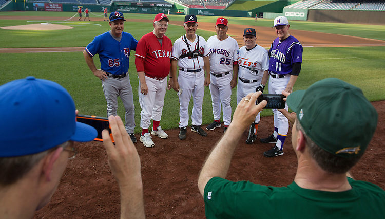 UNITED STATES - JUNE 11 - Republican baseball players have their photo taken before the 54th Annual Roll Call Congressional Baseball Game at Nationals Park in Washington on Thursday, June 11, 2015. The Democrats beat the Republicans 5-2. (Photo By Al Drago/CQ Roll Call)