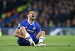 Chelsea's Diego Costa screams in pain after getting foouled during the Premier League match at Stamford Bridge Stadium, London. Picture date: May 8th, 2017. Pic credit should read: David Klein/Sportimage