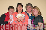 "3639-3642.---------.""Check"".-------.""Leg's 11"",whistle's all round,at the Mount Brandon Hotel Monster Bingo last Friday night organised by John Mitchell's GAA club Tralee to raise fund's for the Juvenile board,present were L-R Kay Dillon,Pauline Conway(showing off her winning's of the 1st game)Bridie O'Mahony and Tess Clifford all from Tralee..-----------------------------------------------------------"