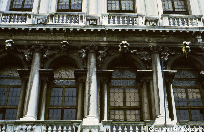 Venice:  Baroque Palace on Grand Canal.  Photo '83.