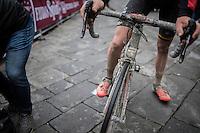 Tiesj Benoot's (BEL/Lotto-Soudal) post-race bike<br /> <br /> 11th Strade Bianche 2017