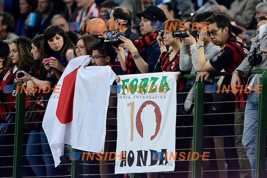 Tifosi giapponesi Keisuke Honda Milan<br /> Milano 04-05-2014 Stadio Giuseppe Meazza - Football 2013/2014 Serie A. Milan - Inter Foto Giuseppe Celeste / Insidefoto