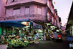 Early morning at Thewet Market, Bangkok, Thailand