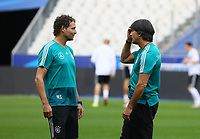 Bundestrainer Joachim Loew (Deutschland Germany) mit Assistenztrainer Marcus Sorg (Deutschland Germany)- 15.10.2018: Abschlustraining Deutschland vor dem Spiel Frankreich vs. Deutschland, 4. Spieltag UEFA Nations League, Stade de France, DISCLAIMER: DFB regulations prohibit any use of photographs as image sequences and/or quasi-video.