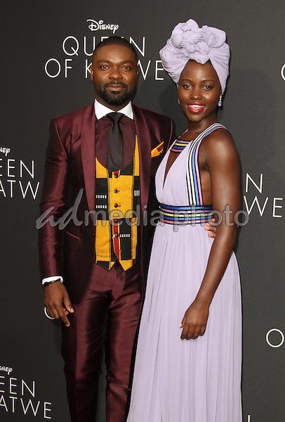 "20 September 2016 - Hollywood, California - David Oyelowo and Lupita Nyong'o. ""Queen Of Katwe"" Los Angeles Premiere held at the El Capitan Theater in Hollywood. Photo Credit: AdMedia"