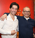 """Clyde Alves and Joel Grey attends the final performance after party for the New York City Center Encores! at 25 production of  """"Hey, Look Me Over!"""" on February 11, 2018 at the City Center Theatre in New York City."""