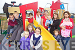 ONE MORE PUSH: Locals at the new playground in Lixnaw this week calling for one more push to pay off the remaining bills for the new facility, including front l-r: Leonie Walz, Andrea Falvey, Gra?inne Shanahan. Back l-r: Aodhan Shanahan, Colin Walz, Muireann McElligott, Anke Walz, Mary Shanahan, A?ine Keane, Brian Fealey, Aisling, Cliodhna and Aoibheann McElligott.