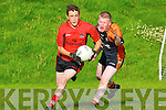 Paudie Clifford Fossa goes past David McGillicuddy Sneem/Derrynane  during their county league clash in Fossa Saturday evening