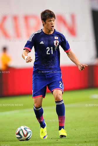 Hiroki Sakai (JPN), <br /> SEPTEMBER 5, 2014 - Football / Soccer : <br /> KIRIN Challenge Cup 2014 <br /> match between Japan - Uruguay <br /> at Sapporo Dome, Hokkaido, Japan. <br />  (Photo by Yohei Osada/AFLO SPORT) [1156]