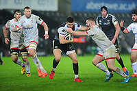 Owen Watkin of Ospreys in action during the Guinness Pro14 Round 11 match between the Ospreys and Ulster Rugby at the Liberty Stadium in Swansea, Wales, UK. Saturday 15 February  2020