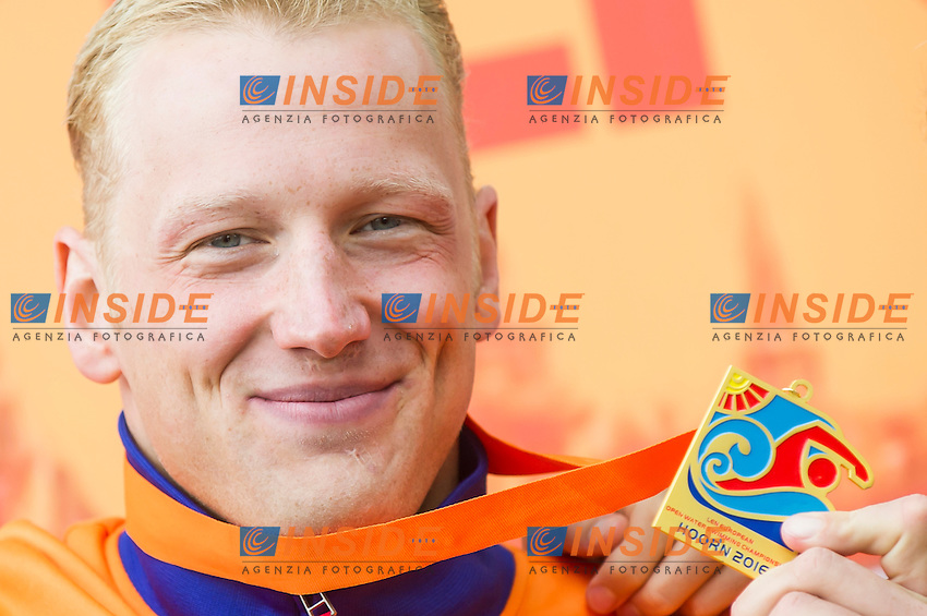 WEERTMAN Ferry NED gold medal European Champion<br /> Hoorn, Netherlands <br /> LEN 2016 European Open Water Swimming Championships <br /> Open Water Swimming<br /> Men's 10km<br /> Day 01 10-07-2016<br /> Photo Giorgio Perottino/Deepbluemedia/Insidefoto