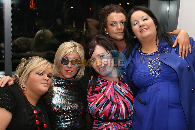 Jennifer Lenehan, Ann King, Michelle McDonnell, Clodagh Carney and Carina Sheridan all from Clodaghs Hair Salon enjoying their Christmas Party in Bru...Photo NEWSFILE/Jenny Matthews.(Photo credit should read Jenny Matthews/NEWSFILE)....This Picture has been sent you under the condtions enclosed by:.Newsfile Ltd..The Studio,.Millmount Abbey,.Drogheda,.Co Meath..Ireland..Tel: +353(0)41-9871240.Fax: +353(0)41-9871260.GSM: +353(0)86-2500958.email: pictures@newsfile.ie.www.newsfile.ie.FTP: 193.120.102.198.