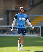 Max Müller of Wycombe Wanderers warms up during the Sky Bet League 2 match between Wycombe Wanderers and Barnet at Adams Park, High Wycombe, England on 22 October 2016. Photo by Andy Rowland.
