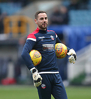 Bolton Wanderers' Remi Matthews during the warm-up prior to kick-off<br /> <br /> Photographer Rob Newell/CameraSport<br /> <br /> The EFL Sky Bet Championship - Millwall v Bolton Wanderers - Saturday 24th November 2018 - The Den - London<br /> <br /> World Copyright © 2018 CameraSport. All rights reserved. 43 Linden Ave. Countesthorpe. Leicester. England. LE8 5PG - Tel: +44 (0) 116 277 4147 - admin@camerasport.com - www.camerasport.com