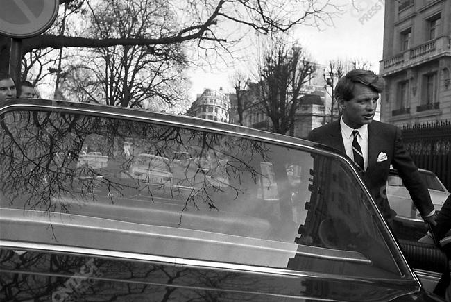 Senator Robert F. Kennedy, visit to Paris, France, January 29, 1967