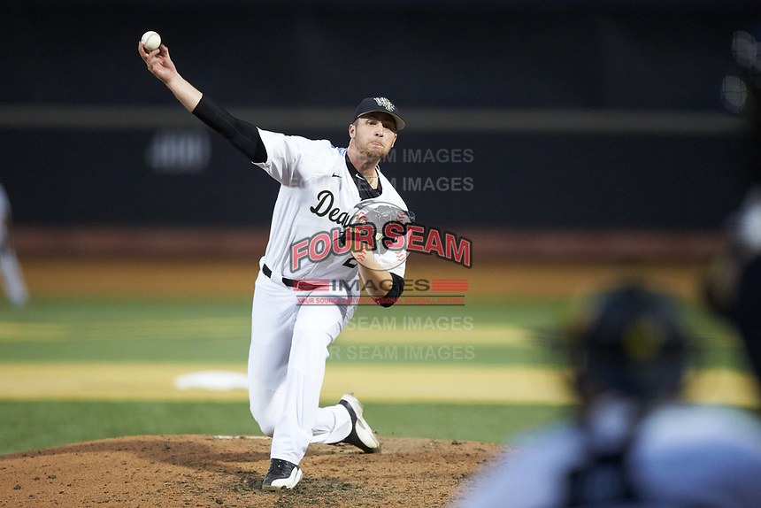 at David F. Couch Ballpark on May 7, 2019 in  Winston-Salem, North Carolina. The Demon Deacons defeated the Wildcats 11-8. (Brian Westerholt/Four Seam Images)