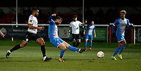 Scott Quigley shoots for Barrow during Dover Athletic vs Barrow, Vanarama National League Football at the Crabble Athletic Ground on 4th February 2020