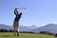 Ryan Fox (NZL) tees off the 7th tee during Saturday's Round 3 of the 2018 Omega European Masters, held at the Golf Club Crans-Sur-Sierre, Crans Montana, Switzerland. 8th September 2018.<br /> Picture: Eoin Clarke | Golffile<br /> <br /> <br /> All photos usage must carry mandatory copyright credit (&copy; Golffile | Eoin Clarke)