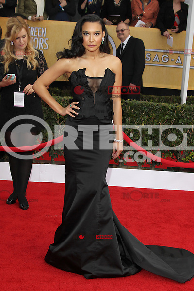 LOS ANGELES, CA - JANUARY 27: Naya Rivera at The 19th Annual Screen Actors Guild Awards at the Los Angeles Shrine Exposition Center in Los Angeles, California. January 27, 2013. Credit: mpi27/MediaPunch Inc.