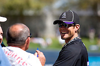 March 13, 2010 - Colorado Rockies pitcher Andrew Johnston #71 signs autographs prior to a spring training game against the Milwaukee Brewers at Maryvale Baseball Park in Phoenix, Arizona.