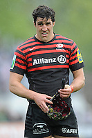 20130512 Copyright onEdition 2013©.Free for editorial use image, please credit: onEdition..Kelly Brown of Saracens during the Premiership Rugby semi final match between Saracens and Northampton Saints at Allianz Park on Sunday 12th May 2013 (Photo by Rob Munro)..For press contacts contact: Sam Feasey at brandRapport on M: +44 (0)7717 757114 E: SFeasey@brand-rapport.com..If you require a higher resolution image or you have any other onEdition photographic enquiries, please contact onEdition on 0845 900 2 900 or email info@onEdition.com.This image is copyright onEdition 2013©..This image has been supplied by onEdition and must be credited onEdition. The author is asserting his full Moral rights in relation to the publication of this image. Rights for onward transmission of any image or file is not granted or implied. Changing or deleting Copyright information is illegal as specified in the Copyright, Design and Patents Act 1988. If you are in any way unsure of your right to publish this image please contact onEdition on 0845 900 2 900 or email info@onEdition.com