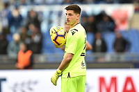 Alessio Cragno of Cagliari looks on during the Serie A 2018/2019 football match between SS Lazio and Cagliari at stadio Olimpico, Roma, December 22, 2018 <br />  Foto Andrea Staccioli / Insidefoto