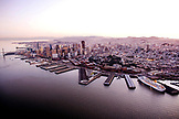 USA, California, San Francisco, View of San Francisco and San Francisco bay from the Airship Ventures Zeppelin, Bay Bridge