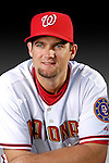 25 February 2007: Washington Nationals first baseman Larry Broadway poses for his Photo Day portrait at Space Coast Stadium in Viera, Florida.<br /> <br /> Mandatory Photo Credit: Ed Wolfstein Photo<br /> <br /> Note: This image is available in a RAW (NEF) File Format - contact Photographer.