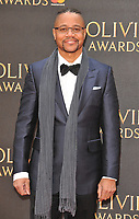Cuba Gooding Jr. at the Olivier Awards 2018, Royal Albert Hall, Kensington Gore, London, England, UK, on Sunday 08 April 2018.<br /> CAP/CAN<br /> &copy;CAN/Capital Pictures<br /> CAP/CAN<br /> &copy;CAN/Capital Pictures