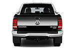 Straight rear view of 2017 Volkswagen Amarok Aventura 4 Door Pick Up stock images