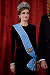 Queen Letitzia during the gala dinner given to the President of the Argentine Republic, Sr. Mauricio Macri and Sra Juliana Awada at Real Palace in Madrid, Spain. February 19, 2017. (ALTERPHOTOS/BorjaB.Hojas)
