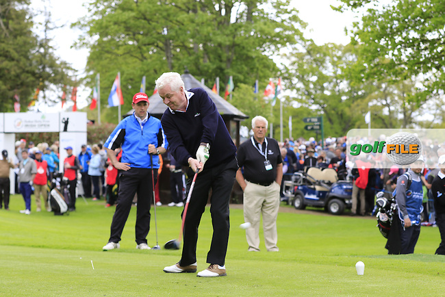Gary Stal's (FRA) team during Wednesday's Pro-Am of the 2016 Dubai Duty Free Irish Open hosted by Rory Foundation held at the K Club, Straffan, Co.Kildare, Ireland. 18th May 2016.<br /> Picture: Eoin Clarke   Golffile<br /> <br /> <br /> All photos usage must carry mandatory copyright credit (&copy; Golffile   Eoin Clarke)