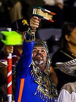Los Matraqueros,  durante el  segundo d&iacute;a de actividades de la Serie del Caribe con el partido de beisbol  Tomateros de Culiacan de Mexico  contra los Alazanes de Gamma de Cuba en estadio Panamericano en Guadalajara, M&eacute;xico,  s&aacute;bado 3 feb 2018. <br /> (Foto  / Luis Gutierrez)