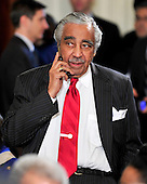 Washington, D.C. - March 23, 2010 -- United States Representative Charlie Rangel (Democrat of New York) speaks on his cell phone prior to the ceremony where U.S. President Barack Obama signed the version of the health care bill that was passed by the U.S. House of Representatives in the East Room of the White House in Washington, D.C. on Tuesday, March 23, 2010..Credit: Ron Sachs / CNP.(RESTRICTION: NO New York or New Jersey Newspapers or newspapers within a 75 mile radius of New York City)