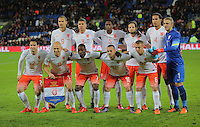 Netherlands team pose for a picture before the Wales v Netherlands  International Friendly, at Cardiff City Stadium, Cardiff, Wales, United Kingdom, 13 November 2015.